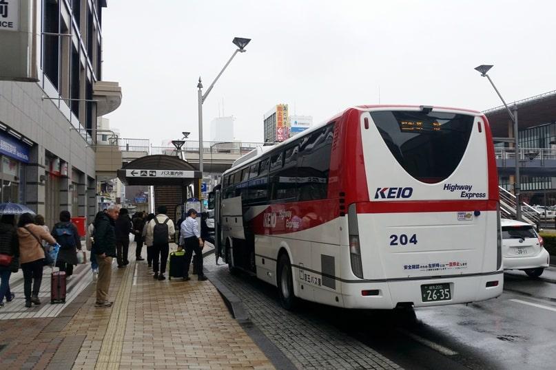 Tokyo to Nagano bus ride. arrival timing. Backpacking Japan travel blog