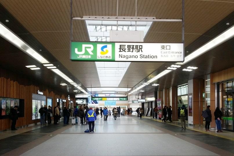 Tokyo to Nagano bus. jr nagano train station. Backpacking Japan travel blog