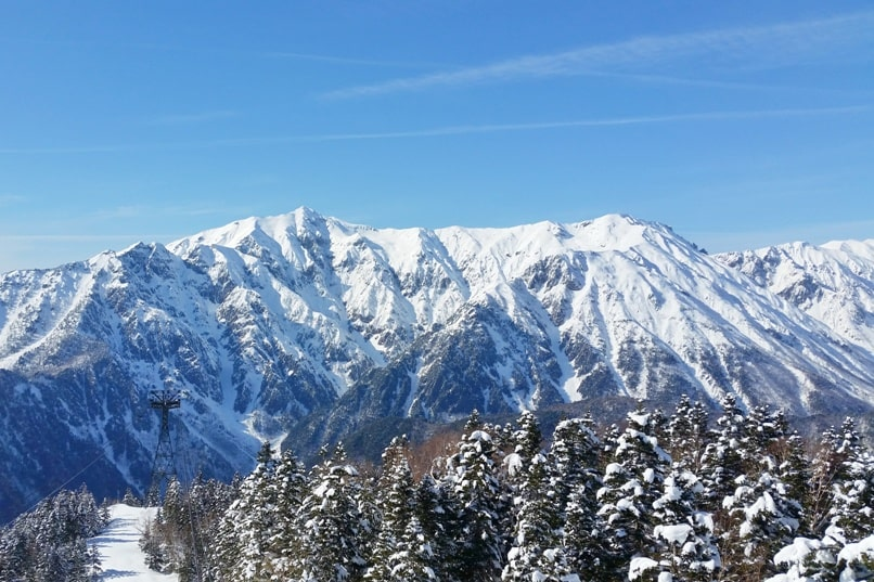 10 days in Japan winter itinerary. Best places to visit in Japan in winter. Shinhotaka ropeway, Japanese alps. Backpacking Japan winter travel blog