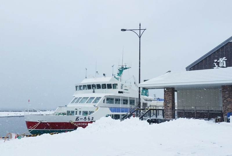 Hokkaido Japan winter itinerary with 7-day JR Hokkaido pass. Abashiri drift ice cruise port. 2 days in Hokkaido. Backpacking Japan winter travel blog