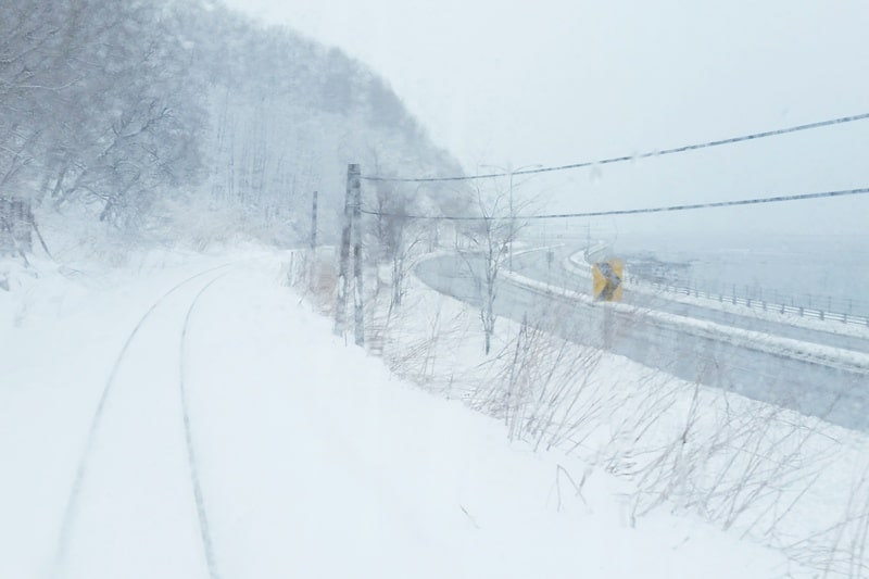 Hokkaido Japan winter itinerary with 7-day JR Hokkaido pass. hokkaido winter train ride. abashiri to kushiro. 2 days in Hokkaido. Backpacking Japan winter travel blog