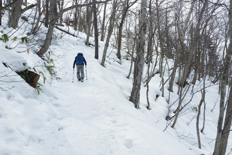 Hokkaido Japan winter itinerary with 7-day JR Hokkaido pass. sapporo winter hike. mount moiwa hiking trail in winter. 5 days in Hokkaido. Backpacking Japan winter travel blog
