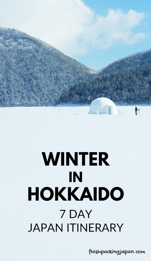 Hokkaido Japan winter itinerary with 7-day JR Hokkaido pass. Tokyo to Hokkaido shinkansen bullet train. Getting around Hokkaido. Best places to visit in Japan winter. Best things to do in Japan winter. One week in Hokkaido. 14-day JR pass, 21-day JR pass. Backpacking Japan winter travel blog