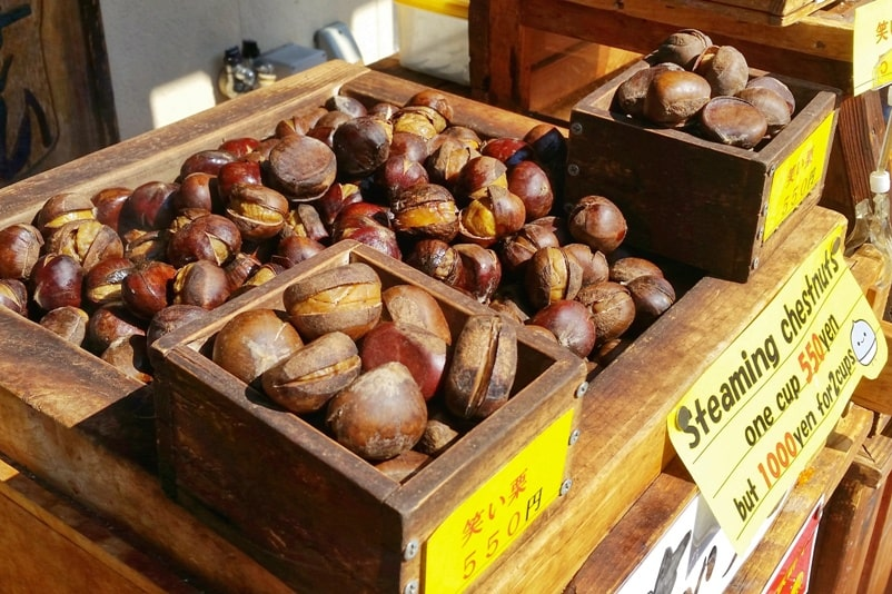 Obuse in Nagano. Chestnut town in Japan. Town street walk. Backpacking Japan travel blog