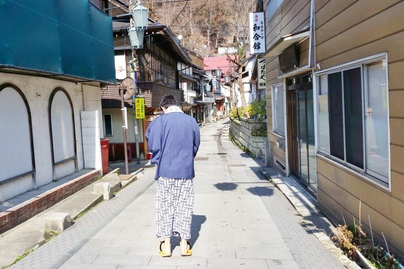 Shibu Onsen hot springs in Nagano. what to wear. yukata. Backpacking Japan travel blog