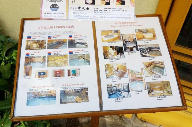 Shibu Onsen hot springs in Nagano. natural hot springs bath in Japan. Backpacking Japan travel blog