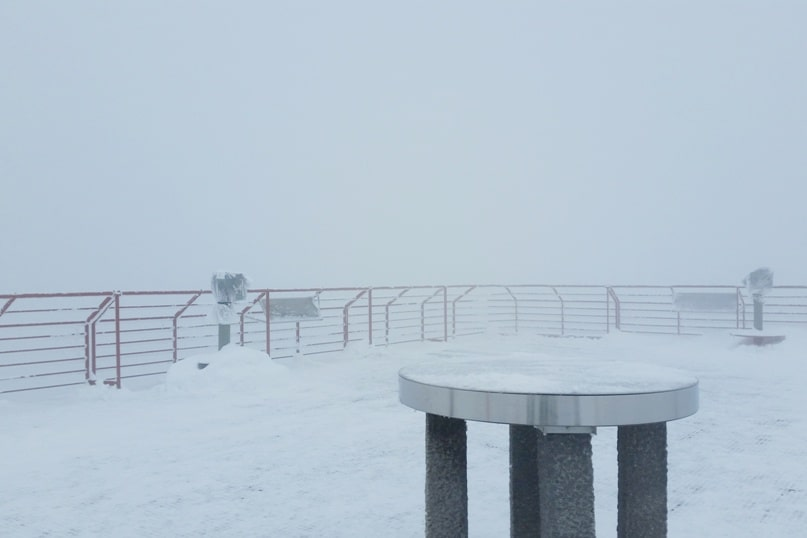 Is Shinhotaka ropeway observatory in winter worth it in cloudy weather or bad weather? Day trip from Takayama. Best things to do in Japanese alps. Backpacking Japan winter travel blog