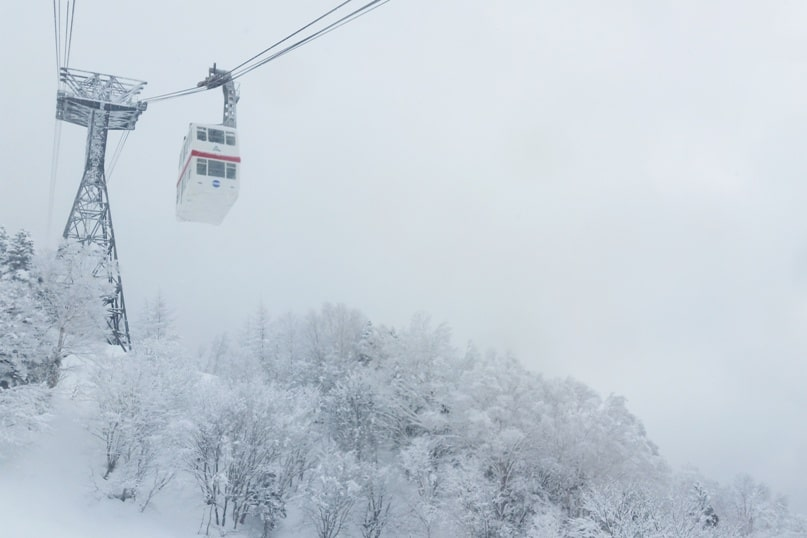 Best things to do in Japanese alps in winter in cloudy weather or bad weather. ropeway timings cable car ride. Day trip from Takayama. Backpacking Japan winter travel blog
