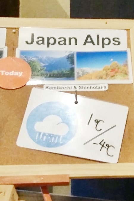 Shinhotaka ropeway winter weather forecast. Japan alps. Day trip from Takayama. Backpacking Japan winter travel blog