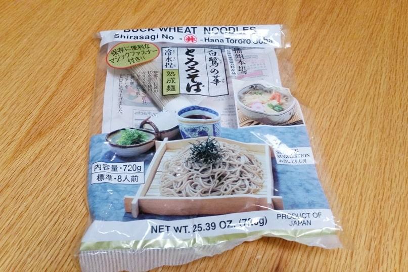 Soba buckwheat noodles, make cheap food in Japan. Backpacking Japan travel blog