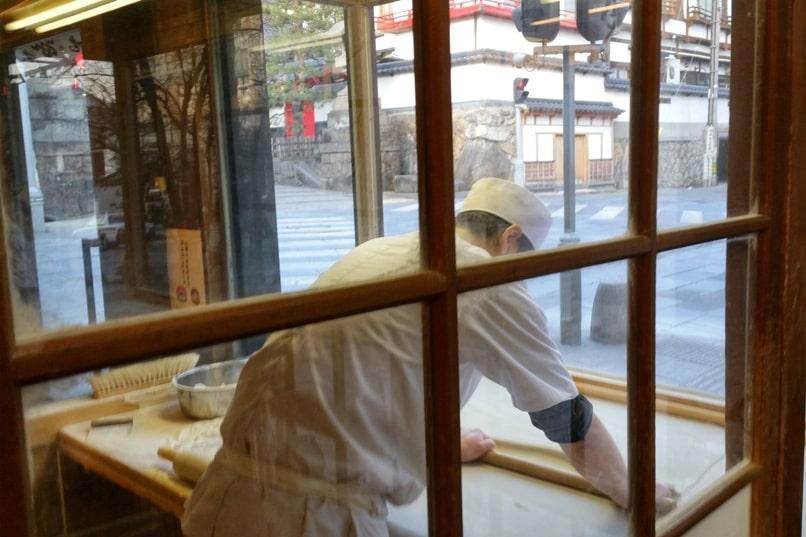 Soba. Common cheap food in Japan. Where to see how to make soba at restaurant. Nagano. Backpacking Japan travel blog