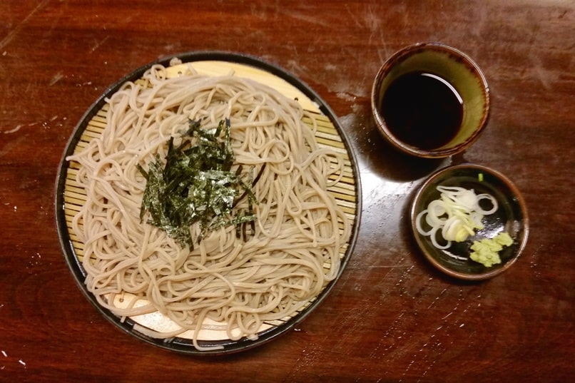 Soba buckwheat noodles. popular japanese food in Japan. cheap food on a budget. Backpacking Japan travel blog
